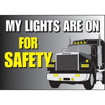 Headlights On Vehicle Warning Labels