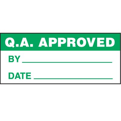 QA Approved Status Label
