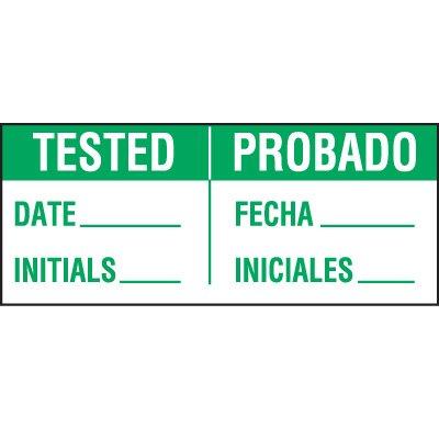 Bilingual Tested Status Label