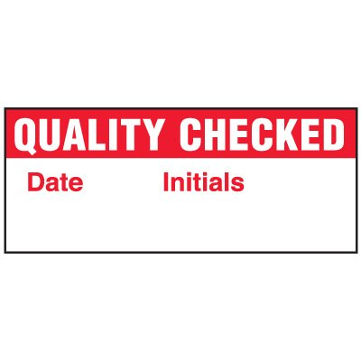 Quality Checked Status Label