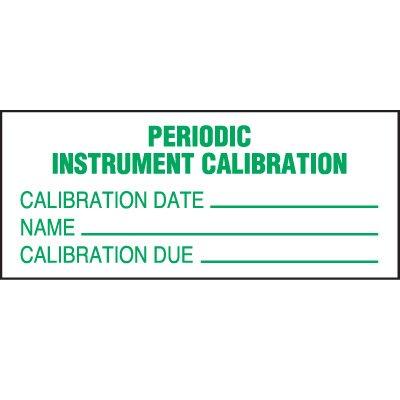 Periodic Calibration Status Label