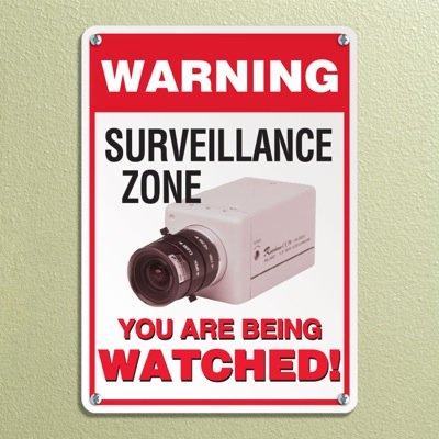 Warning Surveillance Zone Signs