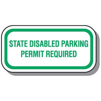 State-Specific Handicap Parking Signs - Washington