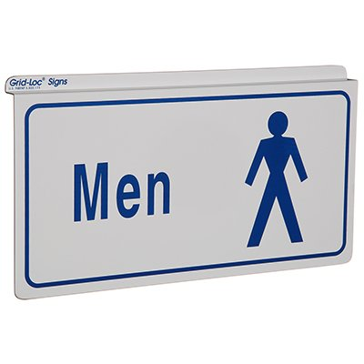 Mens Restroom Signs -Drop Ceiling Double-Sided Signs
