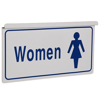 Womens Restroom Signs - Drop Ceiling Double-Sided Signs