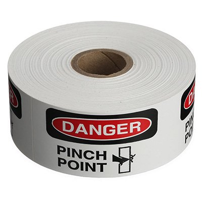 Safety Labels On A Roll - Danger Pinch Point