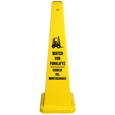 Bilingual Watch For Forklifts Safety Cone