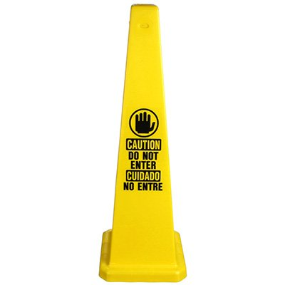 Bilingual Do Not Enter Safety Cone
