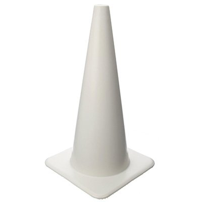 White & Yellow PVC Traffic Cones