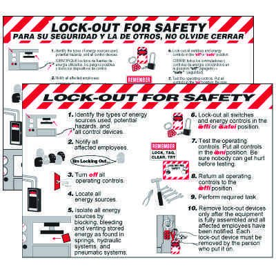 Lock-Out For Safety Wallchart