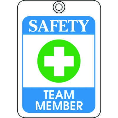 Safety Team Member ID Tags