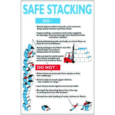 Safe Stacking Workplace Wallchart