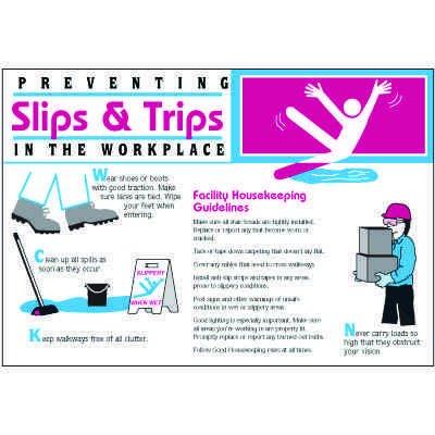 Preventing Slips & Trips Wallchart