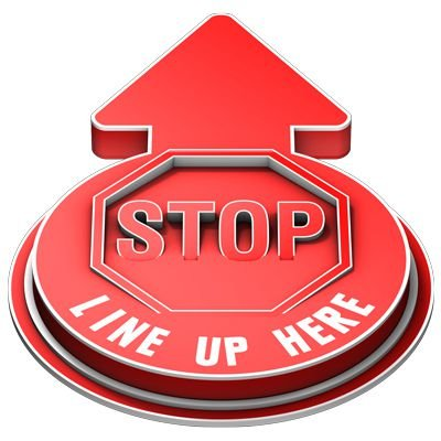 3D Floor Marker - Stop Line Up Here - Red