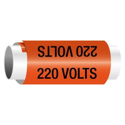 220 Volts - Snap-Around Electrical Markers