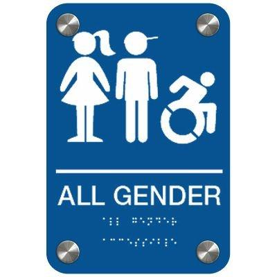 All Gender (Kids, Dynamic Accessibility) - Premium ADA Restroom Signs