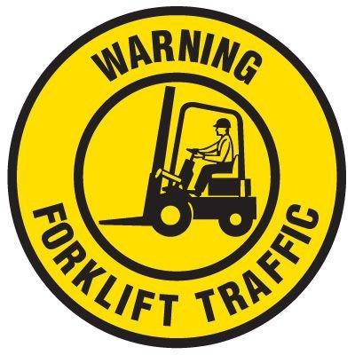 Floor Safety Signs - Warning Forklift Traffic