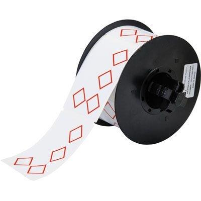 Brady B30 Series B30-260-7569-CLP4A Label - Red on White