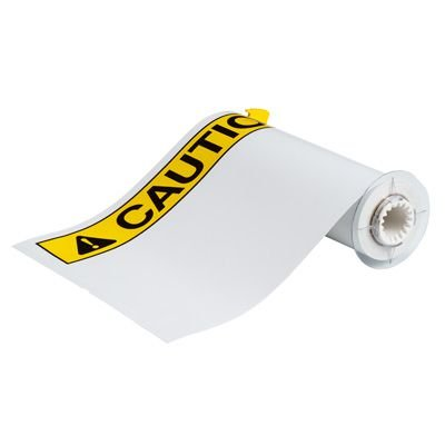 BBP®85 Series Label: Vinyl, ANSI CAUTION, Black/Yellow on White, 10 in H x 14 in W