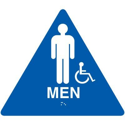 California Men's Handicap Restroom Signs