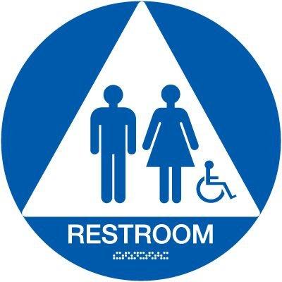 California Men / Women Handicap Restroom Signs