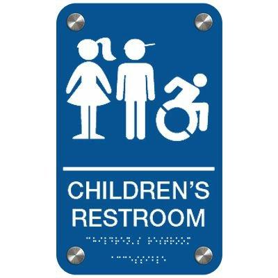 Children's Restroom (Dynamic Accessibility) - Premium ADA Restroom Signs