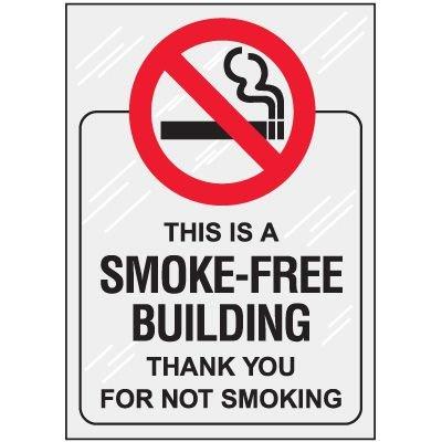 Smoke Free Building Window Decal