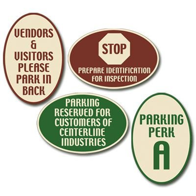 Custom Designer Oval Signs