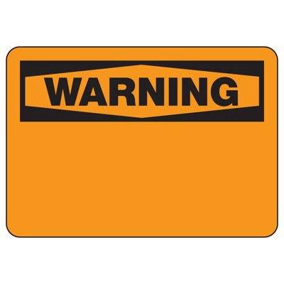 Write-On Blank Warning Sign