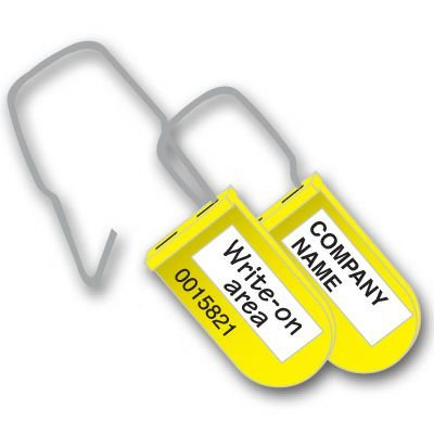 Custom Plastic Padlock Write-On Seals