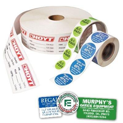 Custom Rapid-Ship Roll Form Labels