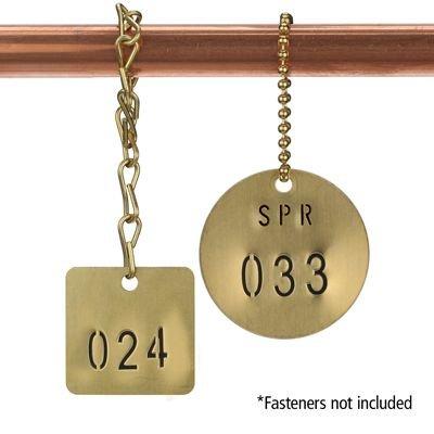 Custom Stamped Brass Valve Tags