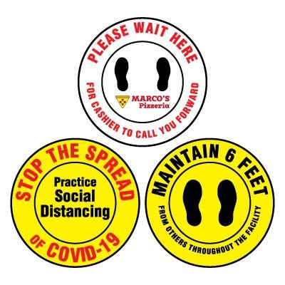 Custom-Worded Floor Safety Signs