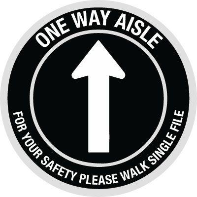 Custom One Way Aisle Floor Safety Signs