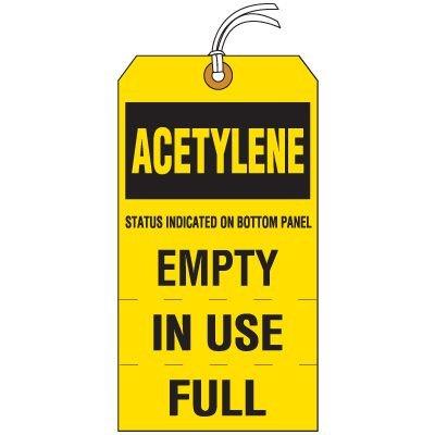 Acetylene Cylinder Status Tag