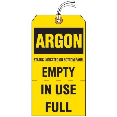 Argon Cylinder Status Tag