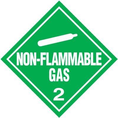 Non-Flammable Gas 2 D.O.T. Placards