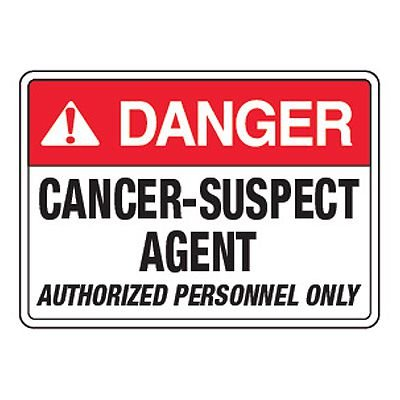 Danger Cancer Suspect Agent - California Chemical Labels