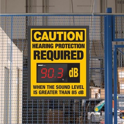 Decibel Meter Sign Kit - Hearing Protection Required