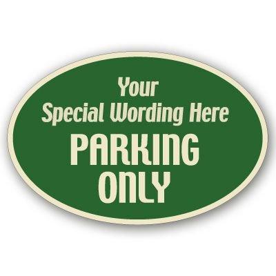 Parking Only Semi-Custom Designer Signs