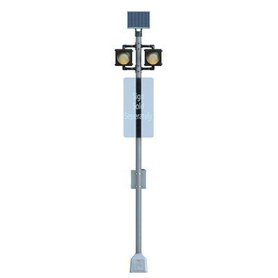 Horizontal Dual BlinkerBeacon™ Solar LED Flashing Beacons