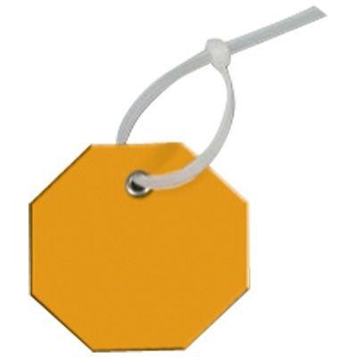 Write-On Octagon Plastic Tags