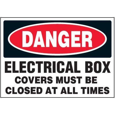 Danger Electrical Box - Voltage Warning Labels