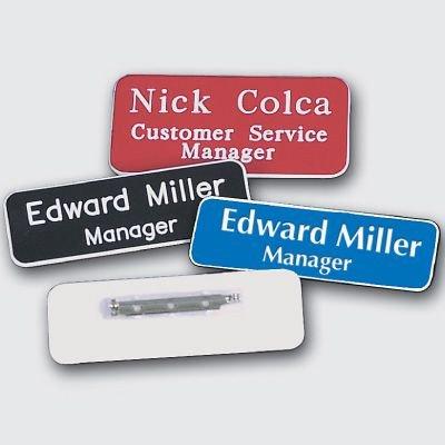 Custom Engraved Name Badges - 1 x 3