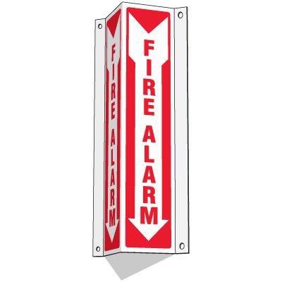 Slim-Line 3-Way Fire Alarm Sign