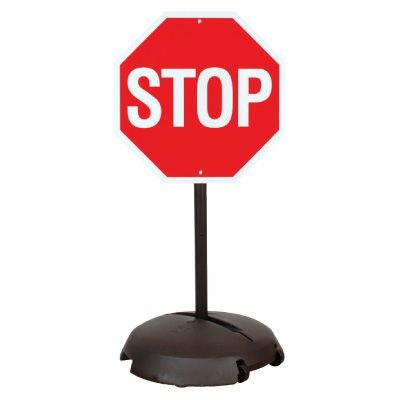 EZ-Roll Sign Stanchion Systems - Reflective Stop Sign