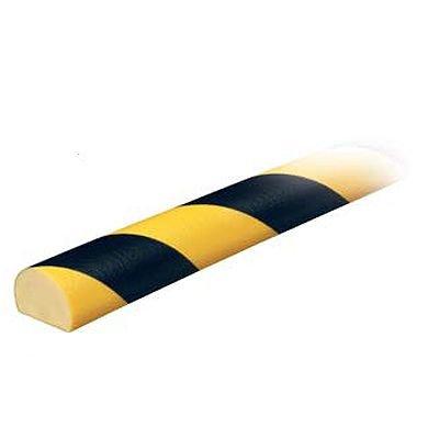 Flat Surface Round Bumper Guard - 1-1/4H x 1-9/16W x 16-2/5'L