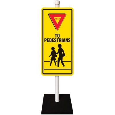 Yield To Pedestrians Traffic Sign System