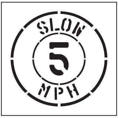 Floor Stencils - Slow 5 Mph