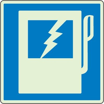 Glowing Electric Panel Shutoff Sign